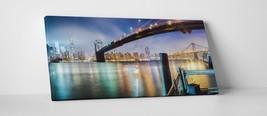 "New York Brooklyn Bridge Panoramic II Gallery Wrapped Canvas Print. 45""x16"" - $129.15"