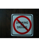 METAL MINI   No Drinking and Driving  metal Traffic  SIGNS - $5.00