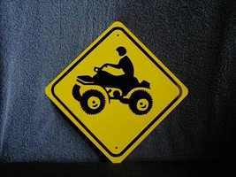 Metal Mini  Atv   Traffic     Signs   Miniature Aluminum  Sign - $5.00