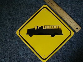 Metal Mini   Fire Truck   Traffic Signs   Miniature Sign - $5.00