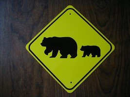 Metal Mini   Bear Family   Traffic Signs   Miniature Sign - $5.00