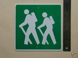 Metal Mini  Hikers  Traffic Signs  Miniature  Sign - $5.00
