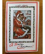 LOUIS WAIN CHRISTMAS CAT A MERRY CHRISTMAS POSTCARD MAX ETTLINGER SERIES... - $148.50