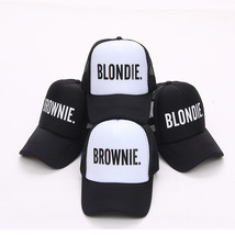 Blondie Brownie Baseball Mesh Caps Lover Snapback Hat Caps Gift For Girlfriends - $10.89+