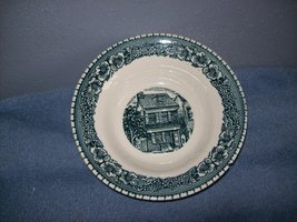 Royal Cavalier China Colonial Heritage Blue Bowl - $7.99