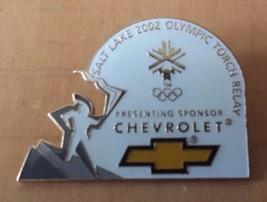 "Chevrolet Salt Lake 2002 Olympic Torch Relay Lapel Pin 1""  x 1 1/4"" - $13.36"