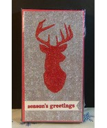 Holiday Time Glitter Deer SEASON'S GREETING Christmas Cards New Sealed - $7.70