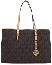 Michael Kors Jet Set PVC/Genuine Leather East/West Travel TOTE - $269.50