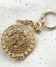 Rare Corday Unicorn Keychain Gold Plated Perfume/Locket, Unicorn in Capt... - $25.00