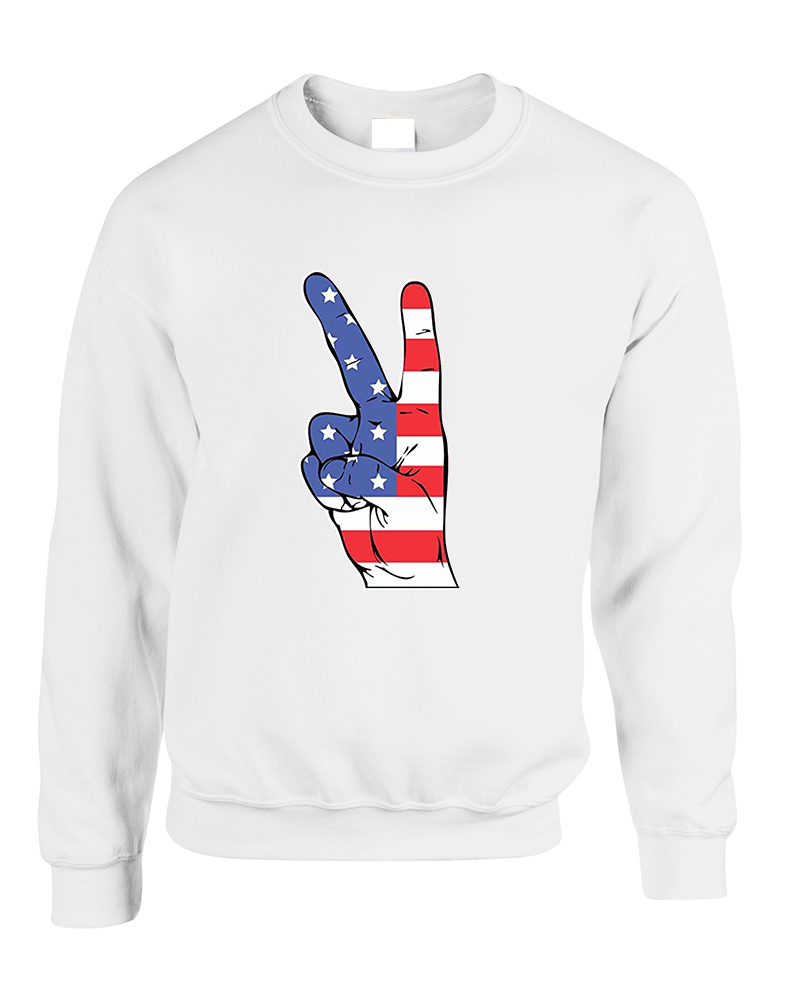 Primary image for Adult Sweatshirt American Flag Hand 4th Of July Cool Top