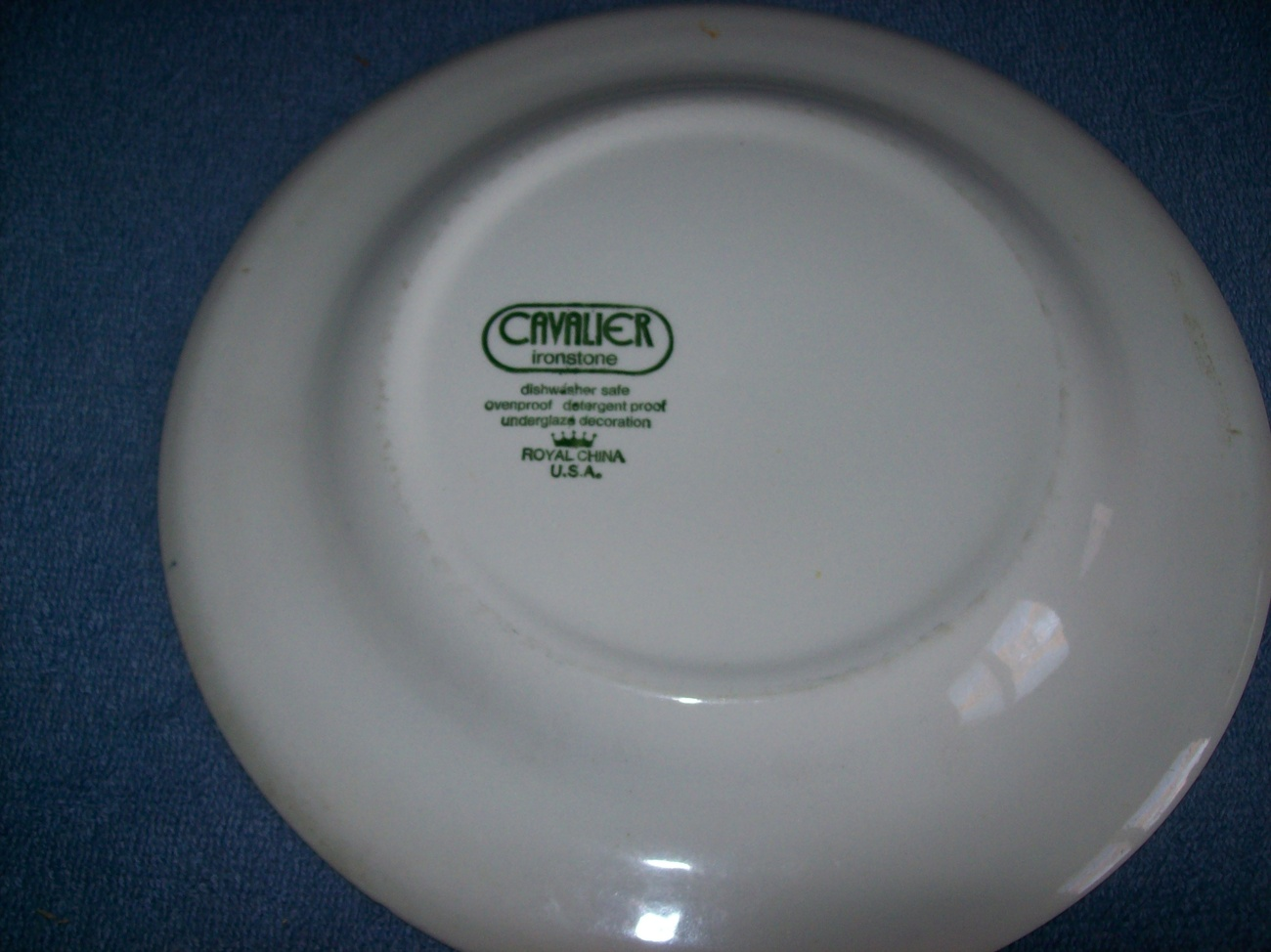 Cavalier Ironstone Royal China Blue White Dinner Plate
