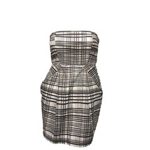 Forever 21 Womens Black White Plaid Strapless Mini Party Cocktail Dress S - $14.85