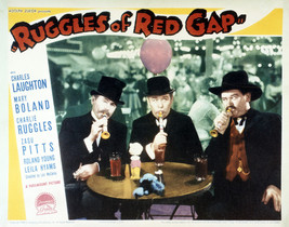 Charles Ruggles and Roland Young in Ruggles o Red Gap Drinking in bar Scene 16x2 - $69.99
