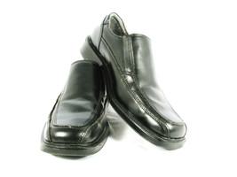 George Men's Casual Black All Man Made Slip On Loafer Bicycle Toe Shoes 8.5 - $23.75