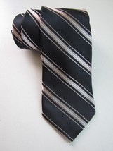 MICHAEL KORS Silk NECK TIE Black Stripe Silk Material Formal Luxury Necktie - £7.58 GBP