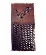 Premium Genuine Western Mens Embossed Basketweave Cowboy Long Wallet in ... - $27.71