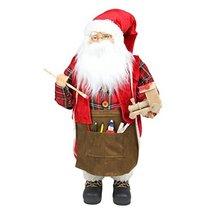 "Northlight 24"" Animated Santa Claus Painting a Toy Train Christmas Decor... - $134.09"