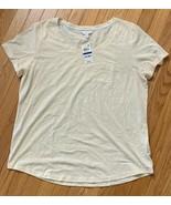 NWT Charter Club Intimates Short Sleeve Sleep Shirt/Sleep Tee-Ivory Size... - $14.99