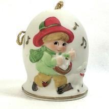 Christmas Ornament Drummer Boy Bell Chime Bisque Porcelain Jasco 1980 Ta... - £6.08 GBP