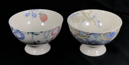 Set of 2 Lenox Dinnerware Collage Alice Drew Footed Bowls Lady Bug Laughter