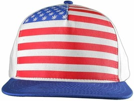 Dope Couture Pledge Legion USA Weed Marijana Stars Stripes Flag Snapback Hat