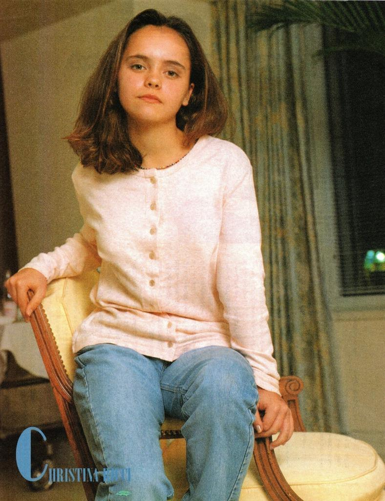 Christina Ricci teen magazine pinup clipping Casper Now and On a Chair