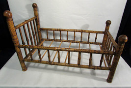 Vintage Bamboo Doll Bed Furniture Child's Toy - $44.55