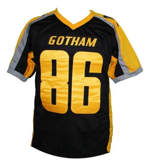Hines Ward #86 Gotham Rogues The Dark Knight Men Football Jersey Black Any Size image 3