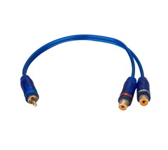 APS 10PCS Y Splitter RCA Audio Cable One Male To Two Female Car Audio Parts - $13.09