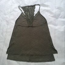 New Express One Eleven Womens Racerback L Lace-Inset Ribbed Tunic Tank T... - $20.26