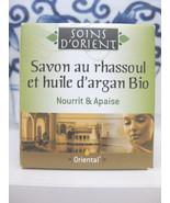 Soins d'Orient Organic Soap Savon Au Rhassoul & Argan Oil from France - $12.86