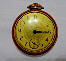 Harbro Pocket Watch with Train Locomotive etched on back - $19.60