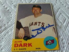 1963  TOPPS   AL  DARK   HAND SIGNED   AUTOGRAPHED # 258  SAN  FRANCISCO... - $24.99