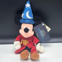 WALT DISNEY STORE PLUSH bean bag stuffed animal tag Mickey Mouse fantasia wizard - $17.82