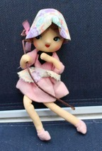 Vintage Wide Eyed Doll Dressed in Pink - $19.80