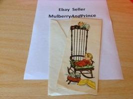 Vintage 1950's CHRISTMAS ROCKING CHAIR Greeting Card By HALLMARK - $10.89