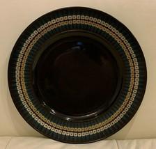 "Rosenthal Studio-Linie Wirkkala Mid-Century Noire  Porcelain Plate 11"" - $79.00"