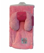 Betsey Johnson Baby Blanket Neck Support Pillow Infant Girls Pink Plush ... - $28.00