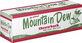 Mountain Dew Throwback, 12 Fl Oz pack of 12