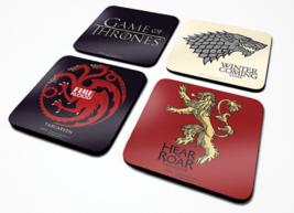 Official Game Of Thrones Set Of 4 Coaster Mat Logo House Sigil TV Novelt... - $12.22
