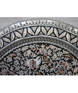 Decorative Ghalamzani Hand Engraved Copper Dish (40cm) - Flower and Bird... - $49.00