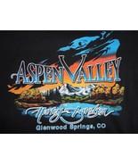 Black Orange Harley Davidson Motorcycle Aspen Valley Cotton Tshirt Mens ... - $20.78
