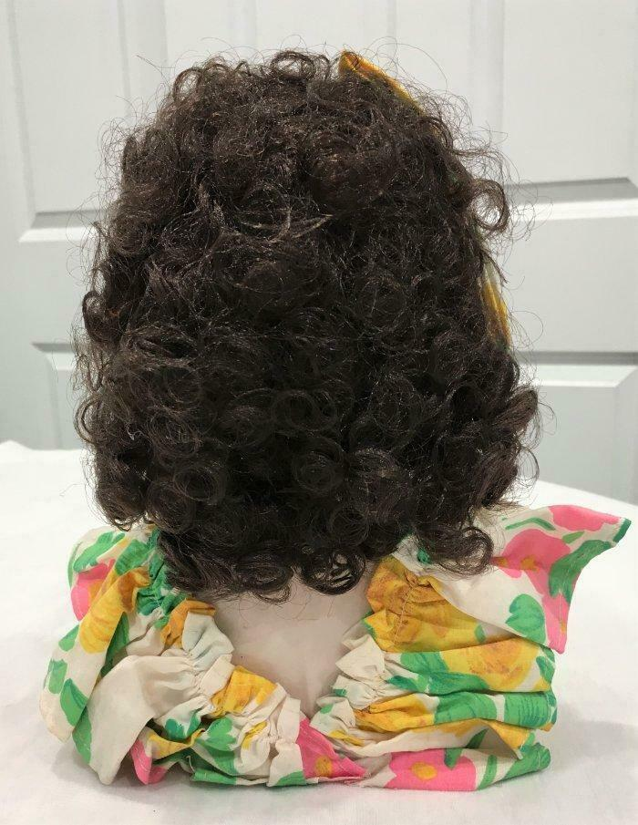 Vintage 50s-60s Beautiful Lady Woman Bust W/ Wig & Necklace Ceramic / Porcelain