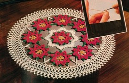 Christmas FIESTA Crochet DOILY Holiday Coaster Holly EGG WARMER Bird Pat... - $5.99