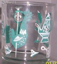 1960'S RETRO HAZEL ATLAS--LARGE ROCK GLASS FESTIVE PATTERN - $9.95