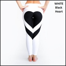 Love Heart Bottom Ladies High Waist Skin Tight Stretch Yoga Workout Leggings image 3