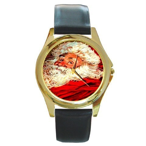 SANTA CLAUS CHRISTMAS GOLD-TONE WATCH 9 OTHER STYLES  Bonanza