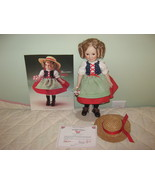 """Porcelain Doll """"the Shirley Temple HEIDI doll"""", Danbury Mint Collection - $50.00"""