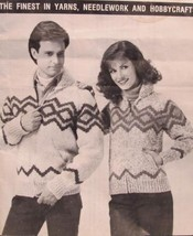 Vintage Mary Maxim Knitting Patterns ADULTS Sweater RIPPLE Design Sizes 32 - 36 - $6.95