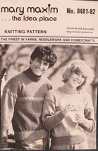 Vintage Mary Maxim Knitting Patterns ADULTS Pullover Sweater Sizes 32 - 44 - $4.95